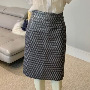 NWOT J.Crew metallic silver and grey pencil 0